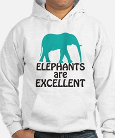 Elephants are Excellent Hoodie