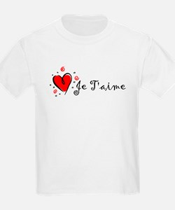 """I Love You"" [French] Kids T-Shirt"