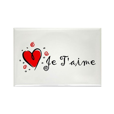 """""""I Love You"""" [French] Rectangle Magnet (100 pack)"""