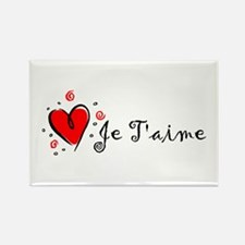 """I Love You"" [French] Rectangle Magnet"