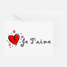 """""""I Love You"""" [French] Greeting Cards (Pk of 10"""