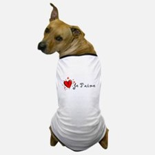 """I Love You"" [French] Dog T-Shirt"