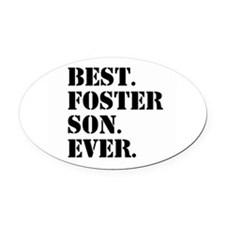 Best Foster Son Ever Oval Car Magnet