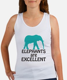 Elephants are Excellent Tank Top