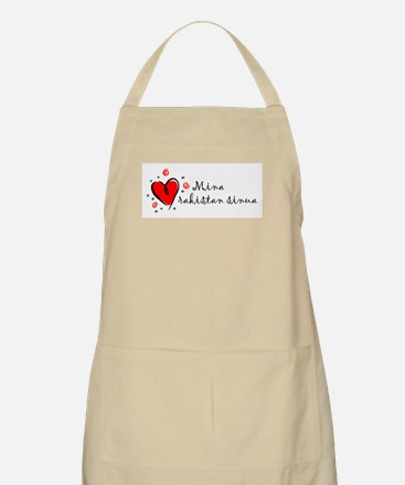"""I Love You"" [Finnish] BBQ Apron"