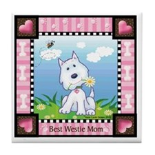 Best Westie Mom Tile Coaster