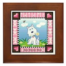 Best Westie Mom Framed Tile