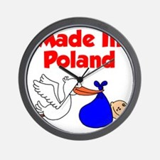 Made in Poland Stork Shirt for a Boy Wall Clock
