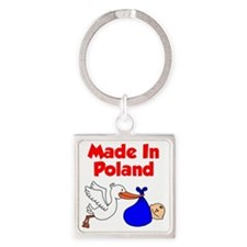 Made in Poland Stork Shirt for a B Square Keychain