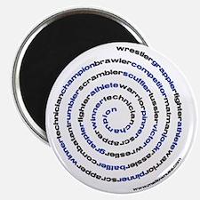 SpiralWrestlerWords Magnet