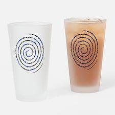 SpiralWrestlerWords Drinking Glass