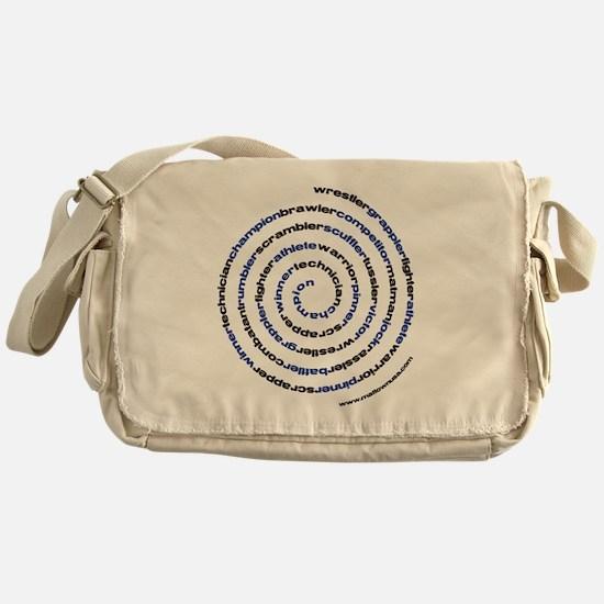 SpiralWrestlerWords Messenger Bag