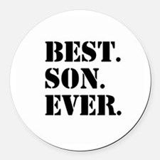 Best Son Ever Round Car Magnet