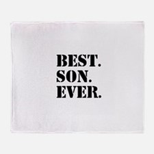 Best Son Ever Throw Blanket