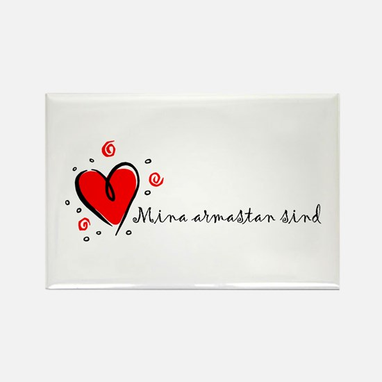 """I Love You"" [Estonian] Rectangle Magnet"
