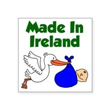 "Made in Ireland Boy Square Sticker 3"" x 3"""