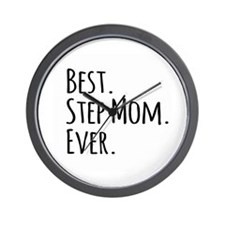 Best Step Mom Ever Wall Clock