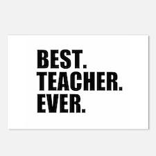 Best Teacher Ever Postcards (Package of 8)