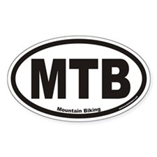 Mountain Biking MTB Euro Oval Decal