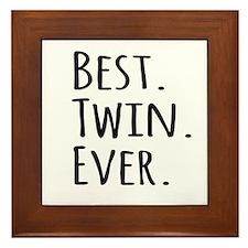 Best Twin Ever Framed Tile