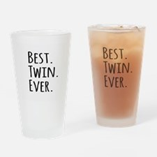 Best Twin Ever Drinking Glass