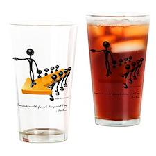 Teamwork by Boss Drinking Glass