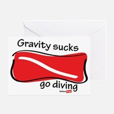 mouse-pad-gravity-sucks Greeting Card