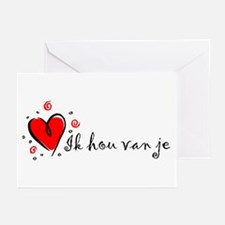 """""""I Love You"""" [Dutch] Greeting Cards (Pk of 10)"""