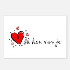 """I Love You"" [Dutch] Postcards (Package of 8)"