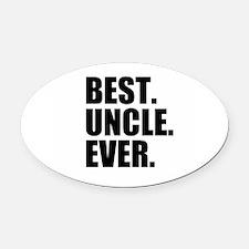 Best Uncle Ever Oval Car Magnet