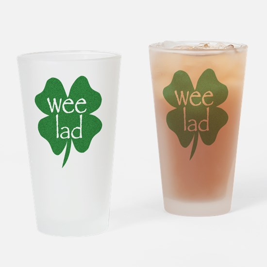 wee lad irish Drinking Glass