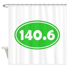 Lime 140.6 Oval Shower Curtain