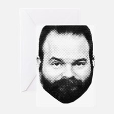 fear_the_beard_w_txt. Greeting Card