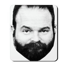 fear_the_beard_w_txt. Mousepad