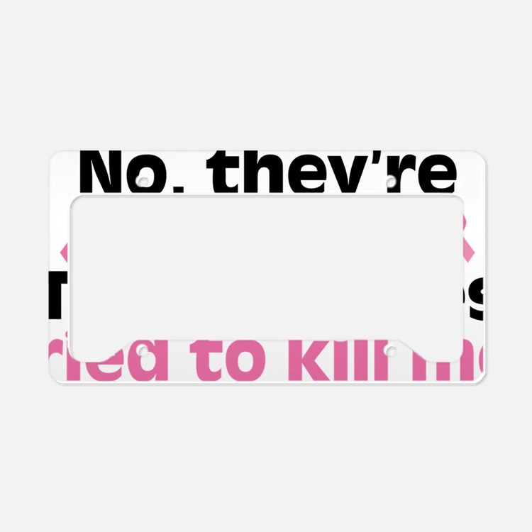 Not Theyre Not Real. The Real License Plate Holder