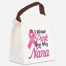 I Wear Pink For My Nana Canvas Lunch Bag