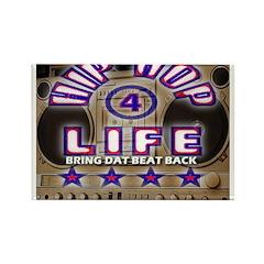 HIP HOP 4 LIFE BRING DAT BEAT Rectangle Magnet (10
