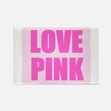 LOVE PINK Rectangle Magnet