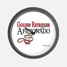 Golden Retriever Aficionado Wall Clock