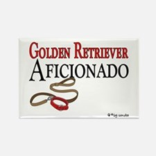 Golden Retriever Aficionado Rectangle Magnet