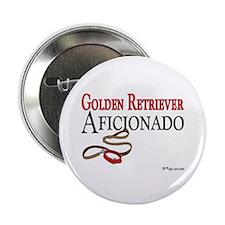 """Golden Retriever Aficionado 2.25"""" Button (10 pack)"""