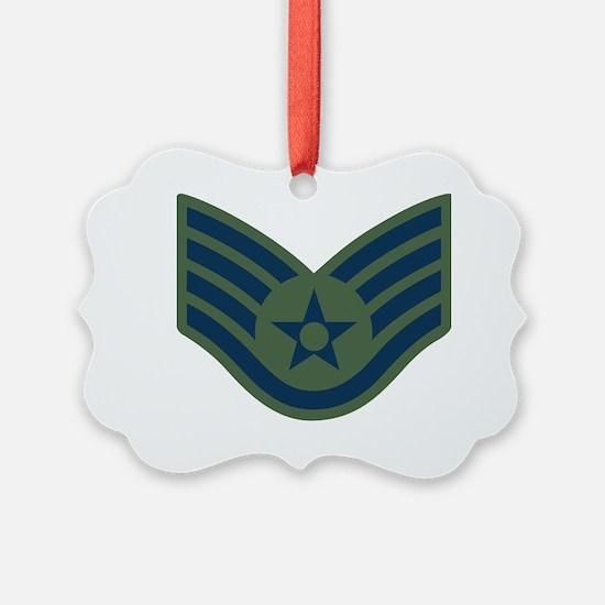 USAF-SSgt-Woodland Ornament