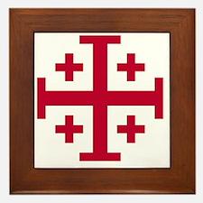Cross Potent - Jerusalem - Red Framed Tile