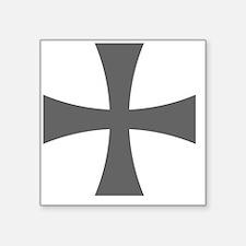 "Cross Formee - Grey Square Sticker 3"" x 3"""
