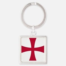 Cross Formee - Red Square Keychain