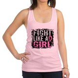 Fight like a girl breast cancer Womens Racerback Tanktop