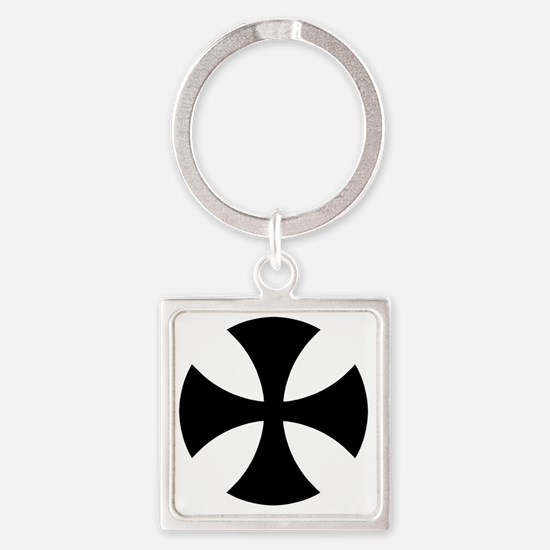 Cross Alisee Patte - Black Square Keychain