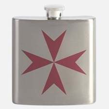 Cross of Malta - Red Flask