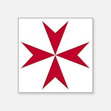 """Cross of Malta - Red Square Sticker 3"""" x 3"""""""