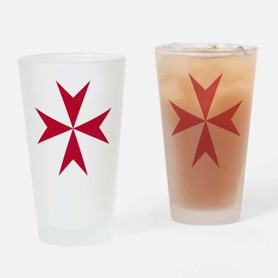 Cross of Malta - Red Drinking Glass
